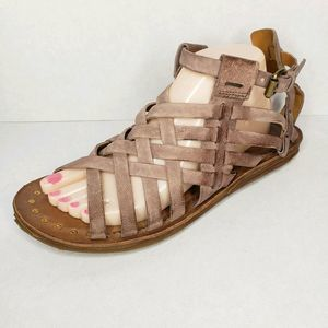 AS 98 Ralston Brown Tan Leather Gladiator Sandals